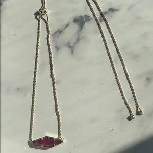 Adjustable garnet and gold Kendra Scott necklace